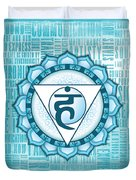 Throat Chakra - Awareness Duvet Cover