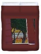 Through My Neighbors Porch Duvet Cover