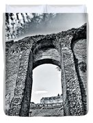 Through The Arch In A Sicily Ruin Duvet Cover