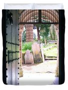 Through The Door Of St Mylor Duvet Cover