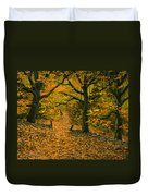 Through The Fallen Leaves Duvet Cover