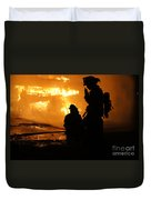 Through The Flames Duvet Cover by Benanne Stiens