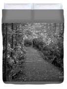 Through The Forest Canopy Black And White Duvet Cover
