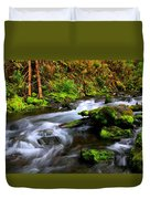 Through The Forest Floor It Flows Duvet Cover