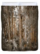 Through The Forest Trees Duvet Cover