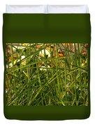 Through The Grass Curtain Duvet Cover