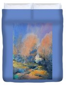 Through The Hole In The Trees Duvet Cover