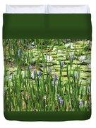 Through The Lily Pond Duvet Cover