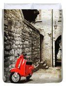 Through The Streets Of Italy - 01 Duvet Cover