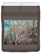 Through The Trees In Infrared Duvet Cover