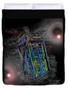 Tardis - Through Time And Space Duvet Cover