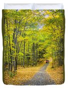 Through Yellow Woods 2 Duvet Cover