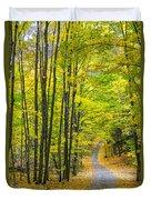 Through Yellow Woods Duvet Cover