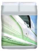 Thunderbird Abstract In Mint And White Duvet Cover
