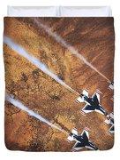 Thunderbirds In Diamond Roll Formation Duvet Cover
