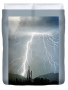 Thunderbolts From  The Heavens Above Duvet Cover