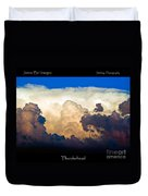 Thunderhead Cloud Color Poster Print Duvet Cover