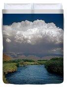 2a6738-thunderhead Over Owens River  Duvet Cover