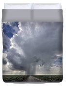 Thunderstorm And Road Duvet Cover