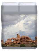 Thunderstorm Clouds Over Turret Arch Duvet Cover