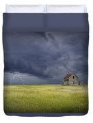 Thunderstorm On The Prairie Duvet Cover