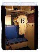 New York Yankee Captian Thurman Munson 15 Locker Duvet Cover