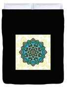 Tibetan Mandala Seamless Pattern Duvet Cover