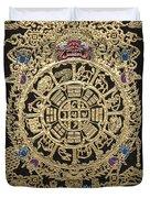 Tibetan Thangka - Tibetan Astrological Diagram Duvet Cover