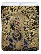 Tibetan Thangka - Vajrapani - Protector And Guide Of Gautama Buddha Duvet Cover