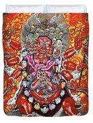 Tibetan Thangka  - Wrathful Deity Hayagriva Duvet Cover