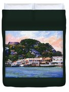 Tiburon California Waterfront Duvet Cover