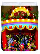 Ticket Booth Of Flowers Duvet Cover