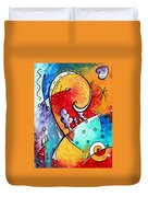 Tickle My Fancy Original Whimsical Painting Duvet Cover