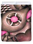 Tickled Pink Duvet Cover