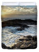 Tidal Pool Sunset Duvet Cover