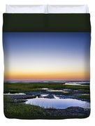 Tidal Pool Sunset Duvet Cover