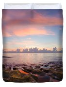 Tidal Pools At Sunrise Duvet Cover