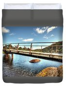Tidal River Bridge Duvet Cover