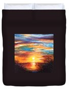 Tide Marsh Sunset Duvet Cover