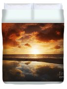 Tidepool At Sunset Duvet Cover