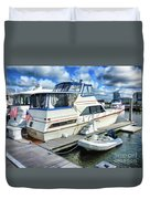 Tidewater Yacht Marina 5 Duvet Cover by Lanjee Chee