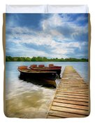 Tied To The Jetty Duvet Cover