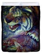 Tiger And Deer Duvet Cover