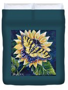 Tiger And Sunflower Duvet Cover