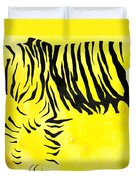 Tiger Animal Decorative Black And Yellow Poster 2 - By Diana Van Duvet Cover