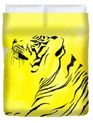 Tiger Animal Decorative Black And Yellow Poster 3 - By  Diana Van Duvet Cover