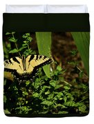 Tiger Butterfly Posing Duvet Cover