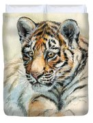 Tiger Cub Portrait 865 Duvet Cover