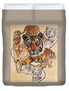 Tiger Haven Duvet Cover