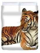 Tiger In Repose Duvet Cover